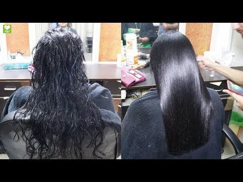 Permanent Hair Straightening at Home With Natural Ingredients - Beauty tips at health tone
