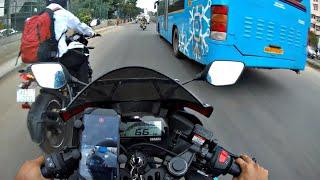 Stock R15 V3 vs Modified R15 V3 | Highway race | ft Kawasaki