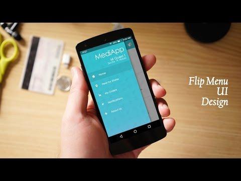 How to Design a Flip Menu UI in Photoshop