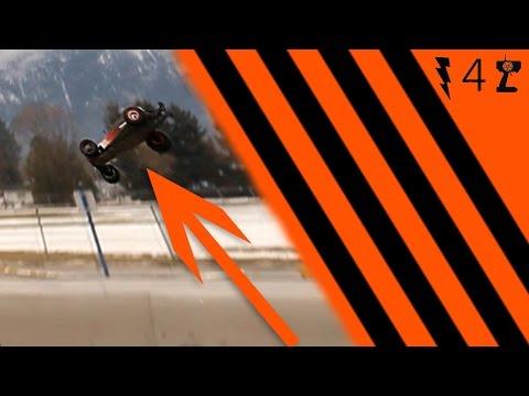 slow motion RC back-flip