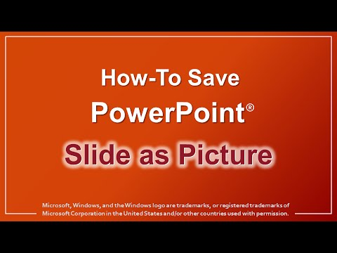 How to Save PowerPoint Slide as Picture