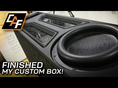 Transmission Line Subwoofer Box - Final Upholstery!
