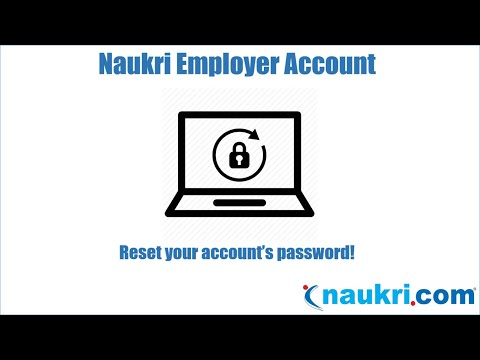 How to reset password for your Naukri employer's account?