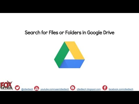 Search for Files or Folders in Google Drive