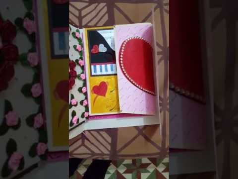 How to make greeting card for wife or husband / handmade card