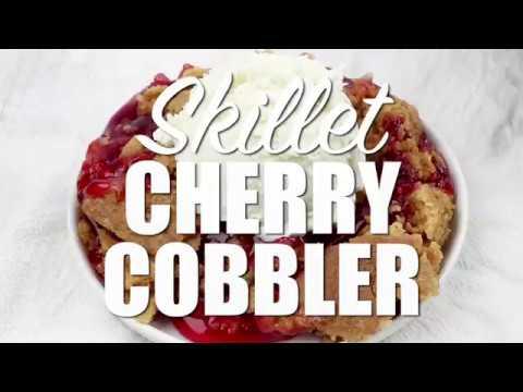 How to make: Easy Skillet Cherry Cobbler