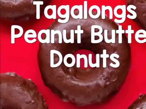Homemade Girl Scout Cookie Donuts - Peanut Butter Tagalongs Donuts!