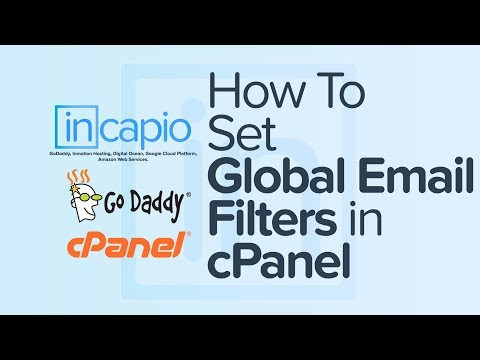 How To Set Global Email Filters in cPanel | Web Hosting | GoDaddy | 2018