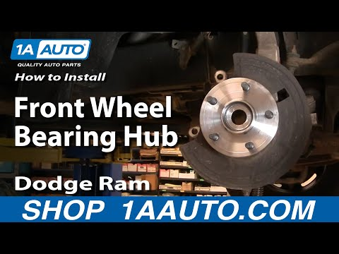 How To Install Repair Replace Front Wheel Bearing Hub Dodge Ram 1500 02-08 BUY AUTO PARTS 1AAUTO.COM