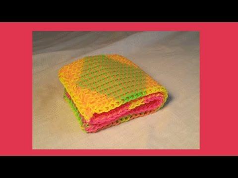 Rainbow Loom Folding Wallet and full loom Cornrow Cuff