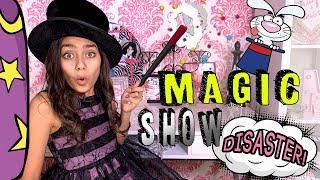 Magic Show Fail - Magic Tricks Toy Master : Mercedes World // GEM Sisters