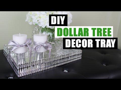 DIY DOLLAR TREE DECOR TRAY | Dollar Store DIY Mirror Tray | DIY Mirror Glam Decor Tray