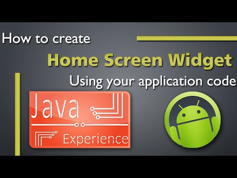 Creating home screen widget in Android Tutorial
