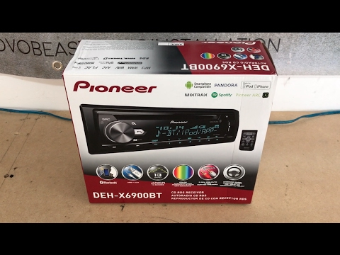 Pioneer DEH-X6900BT Bluetooth Single Din  Radio Unboxing