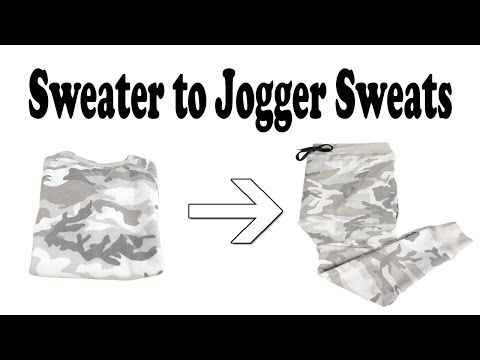 DIY: Sweater to Jogger Sweats Tutorial | KAD Customs #38