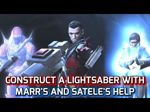 SWTOR: Build a Lightsaber with Satele & Marr's Help (Chapter 12 KOTFE - Jedi Knight)