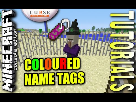 MINECRAFT - PS3 - COLOURED NAME TAGS - HOW TO - TUTORIAL - ( PS4 / XBOX / PC / VITA )  UPDATE WII