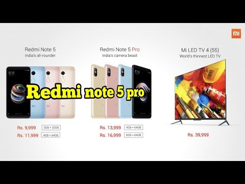Redmi Note 5 Pro Launch 💥💥💥   Full Specifications