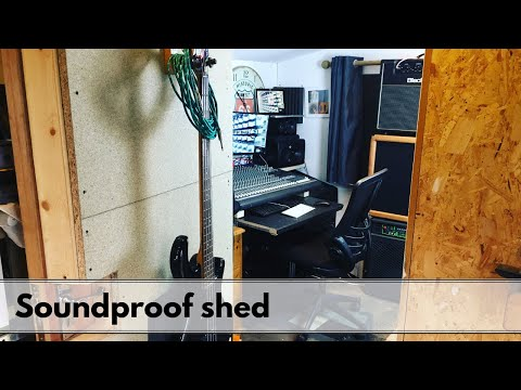 How to Soundproof a home studio / shed recording studio