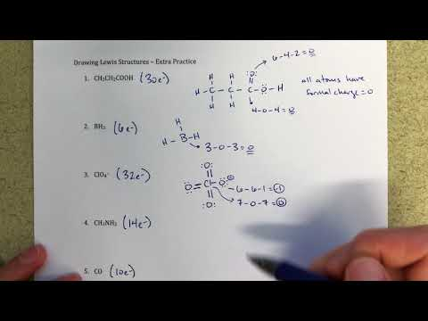 How to Draw Lewis Structures and Calculate Formal Charge