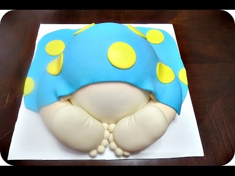 How to make a fondant Baby Butt topper