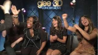 GLEE movie interviews - Chris Colfer, Lea Michele, Monteith, Darren Criss, McHale, Agron, Morris