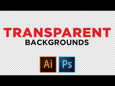 Transparent Backgrounds | Adobe Illustrator and Photoshop CC Tutorial