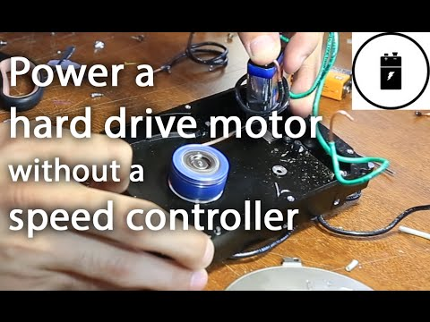 Power a hard drive motor without a speed controller