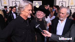 Download Kris Kristofferson, Willie Nelson & Merle Haggard on the GRAMMYs Red Carpet 2014 Video