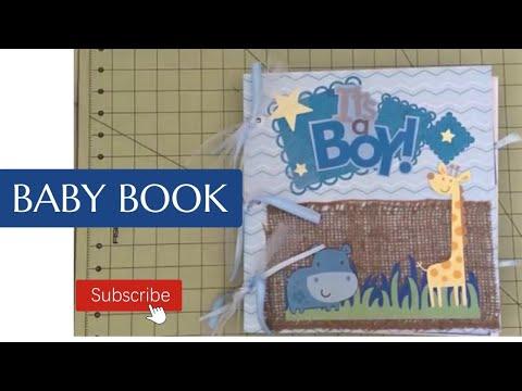 Baby Book...it's a boy Cricut Explore baby book