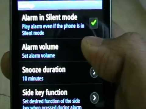 How to set alarm on Samsung galaxy ace