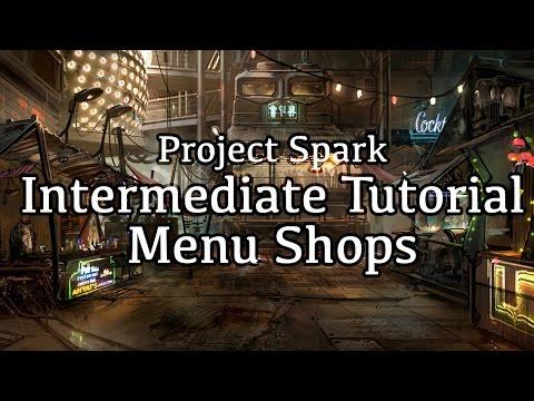 Advanced Menu Shops - Project Spark