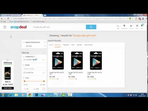 How to buy Paid Google apps from Play Store in India 2015 Gift card