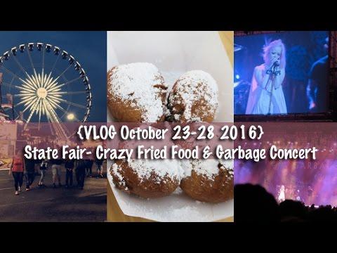 Honeybee Vlog Cam: Reaction to TWD, Eating Crazy Fair Foods, Garbage Concert