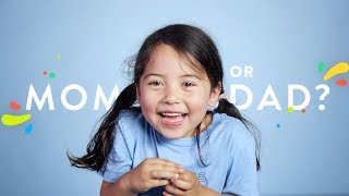 Who Do You Like Better, Mom or Dad? | 100 Kids | HiHo Kids