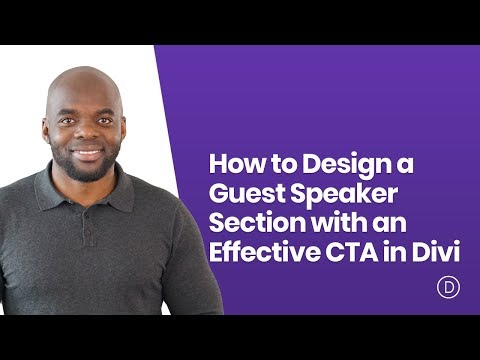 How to Design a Guest Speaker Section with an Effective CTA in Divi