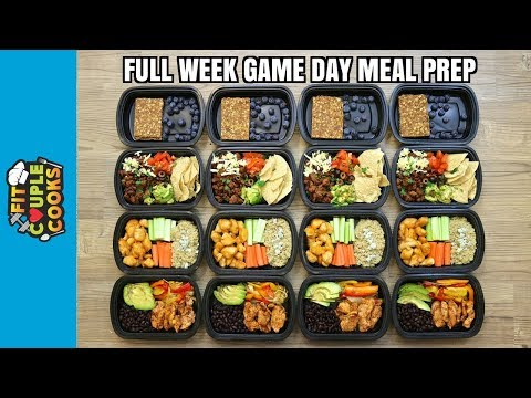 GAME DAY - FULL WEEK MEAL PREP - How to Meal Prep - Ep. 74