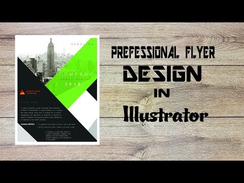 How to create a professional Flyer Design in Illustrator CS6