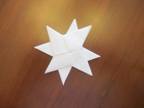 How to make a Paper Double Ninja Star (DIST-8)
