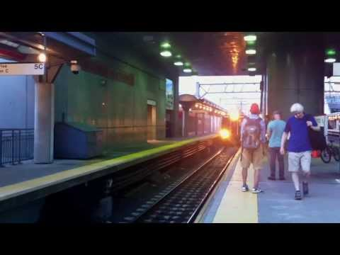 Stamford, Connecticut - Metro-North train arrives HD (2013)