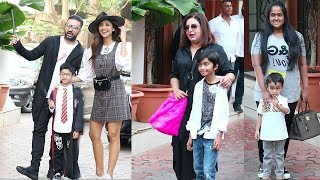 Bollywood Celebs With Thier Kids ATTEND Shilpa Shetty