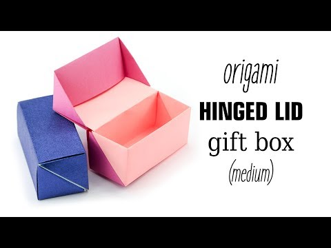 Origami Hinged Gift Box Tutorial - Paper Kawaii