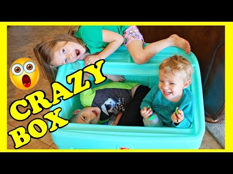 CRAZY TOY BOX! Kids Playing Instead of Clearning Up!!!!