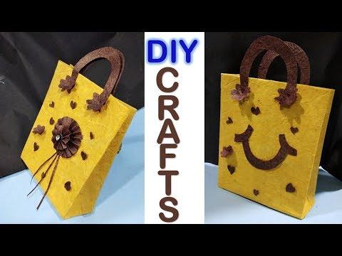 How to make beautiful paper bag || handbags || paper craft || designer bag