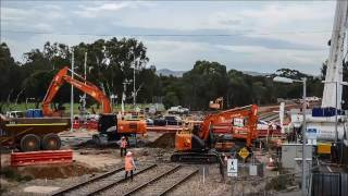 Torrens Rail Junction time lapse of construction works 14 to 24 April 2017