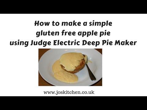 How to make a simple gluten free apple pie using Judge Electric Deep Pie Maker - Joskitchen.co.uk