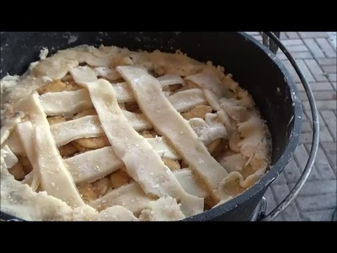 How to Make Apple Cobbler with Spiced Rum  in a Dutch Oven