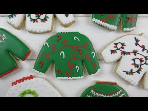 How To Make UGLY CHRISTMAS SWEATER Cookies!