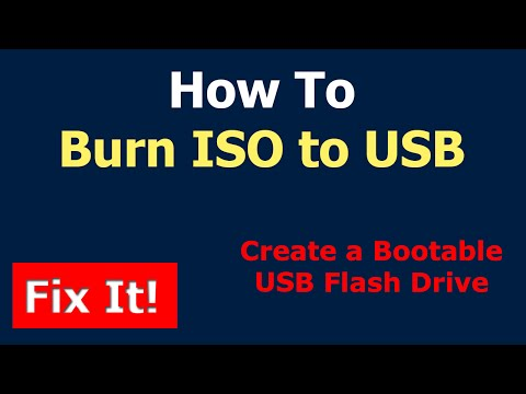 How To Burn ISO to USB