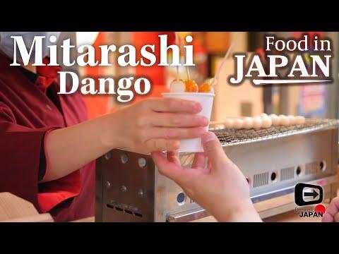 Food in Japan | Mitarashi Dango | Dumplings with Salty-sweet Sauce | Osaka